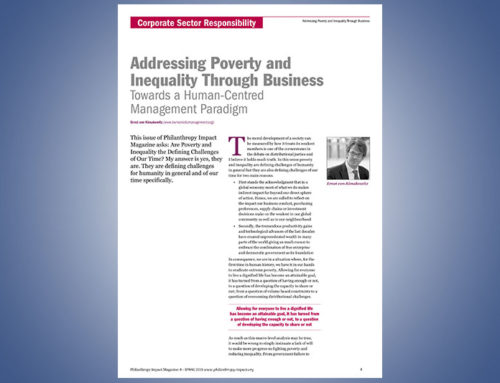 Addressing Poverty and Inequality through Business