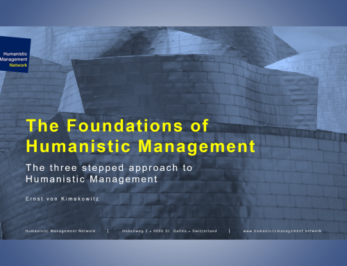 The Foundations of Humanistic Management