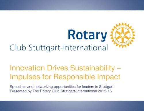 Innovation Drives Sustanability – Rotary Club Stuttgart