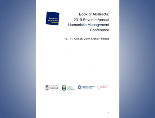 2019 Humanistic Management Conference – Book of Paper & Poster Abstracts
